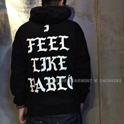 【HYDRA】PABLO I Feel Like Pablo Hoodie 帽TEE 黑色 S M L kanye 肯伊