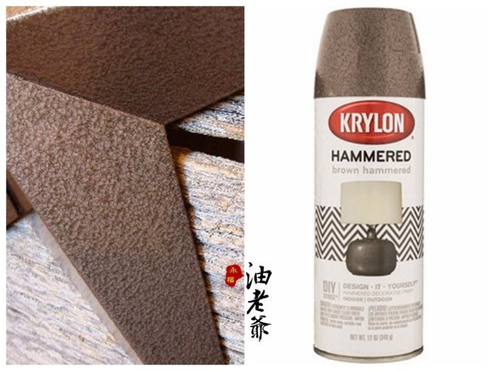 KRYLON 鎚紋漆 錘紋漆 質感噴漆 特殊噴漆 鑄鐵 復古金屬馬達機台 藝術創作 美國進口 油老爺快速出貨