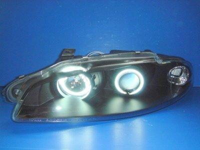 小亞車燈╠ 高優質 三菱 日蝕 ECLIPSE 95 97年 CCFL 白 光圈 黑框 魚眼 大燈