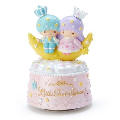 Sanrio 日本正版 Little Twin Stars 小雙星 旋轉音樂盒 (王冠)