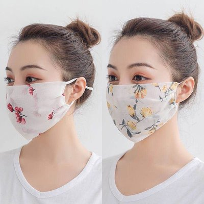 【優選】防曬口罩女防紫外線可水洗夏季透氣遮陽防塵可調節可反復使用