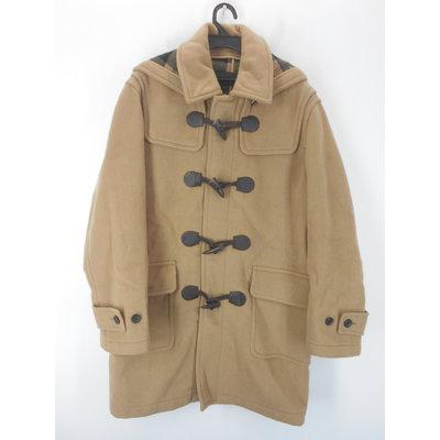 男 ~【HANG TEN】米色連帽可手洗羊毛外套 M號(12A94)~99元起標~