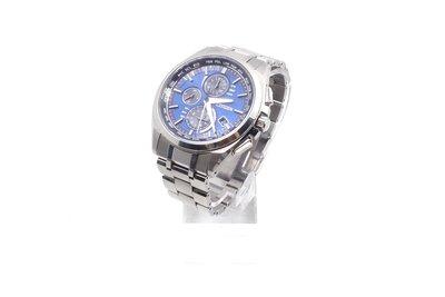 【台中青蘋果】星辰 Citizen Eco-Drive 光動能電波鈦金屬計時錶 AT8040-57L #37137