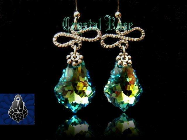 ※水晶玫瑰※ SWAROVSKI 巴洛克水晶 耳勾式耳環(DD129)~僅此一對