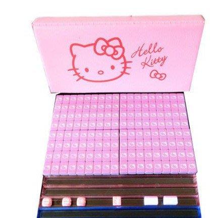 正版Hellokitty凱蒂貓麻將牌 迷你卡通小麻將 便攜旅遊攜帶