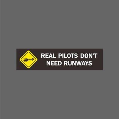 真飛行員不用跑道 橫幅 防水貼紙 筆電 行李箱 安全帽貼 尺寸120x30mm