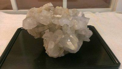 天然白水晶簇擺件