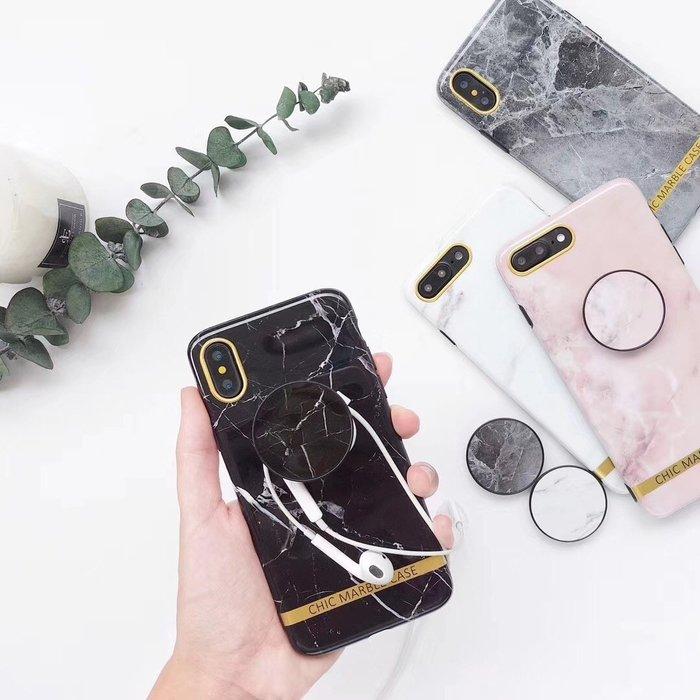 OPPO R15 R11S R11 R9S R9 PLUS 手機殼 歐美潮牌 大理石紋 氣囊支架 簡約時尚 軟殼全包