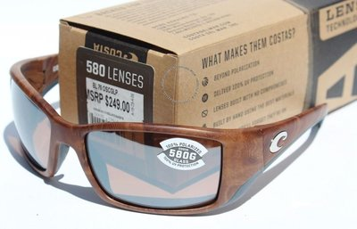COSTA DEL MAR Blackfin 580 POLARIZED太陽眼鏡槍托/銀鏡580G新