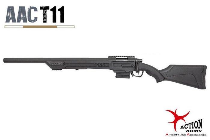 【翔準軍品AOG】AAC T11S(黑)長版 Sniper Rifle 手拉狙擊槍 工具盒 魚骨 生存遊戲 D-09-0