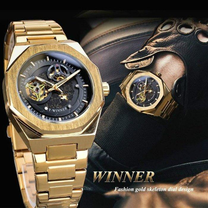T-WINNER 勝利者 原廠正品 透底鏤空網眼個性航儀大錶面 夜光指針 商務時尚型男 全自動機械男錶【S & C】