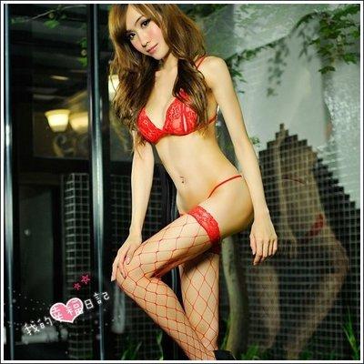 【惑☆夜東京】我的幸福日記.性感大腿網襪-熱情紅(大網襪) JA-24120724
