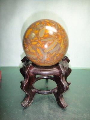 【競標網】天然漂亮A級貨女媧石球1.47kg95mm(贈座)(回饋價便宜賣)限量10組(賣完恢復原價500元)
