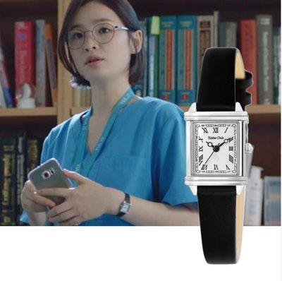 小金*韓國代購*韓劇機智醫生生活2蔡頌和教授同款手錶品牌 MILTON STELLE 黑色女用皮質手錶~預購中