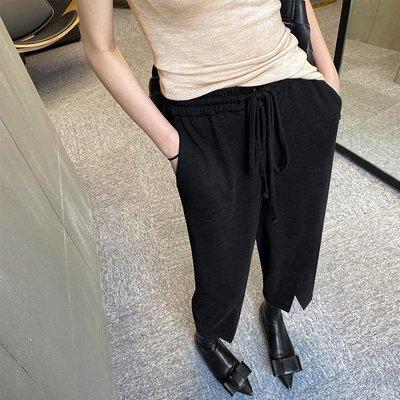 鬆緊腰九分褲顯瘦百搭哈倫褲寬鬆闊腿褲薄款運動休閒褲