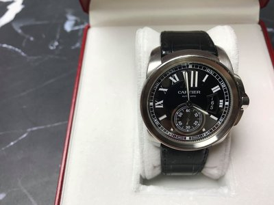 CARTIER Calibre de Cartier 黑面盤自動上錬手錶