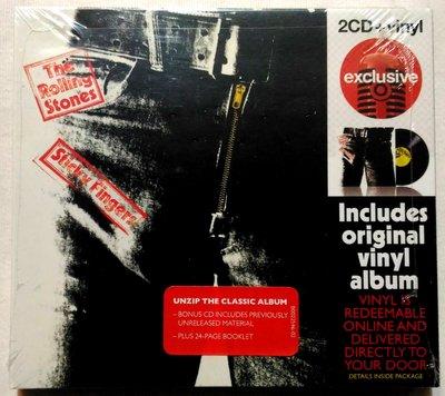 滾石合唱團 The Rolling Stone / 順手牽羊 Sticky Fingers 豪華經典重現 2CD+vinyl 黑膠 / 美版 破盤價 全新未拆