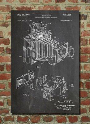[復古藝術海報] - 1966年 蛇腹相機專利原型|世界經典 [美國授權](有現貨)
