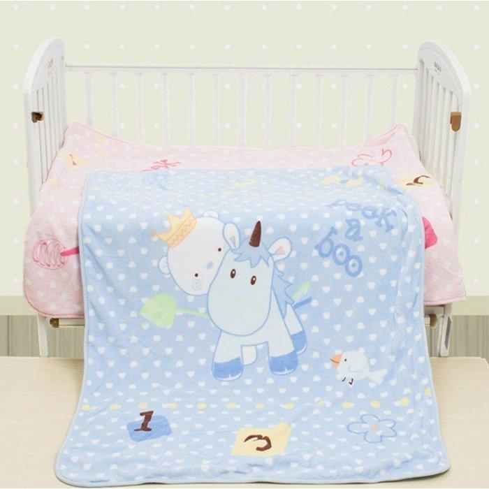 兒童童毯抱毯100*140CM 雙層珊瑚絨/純棉裡蓋毯