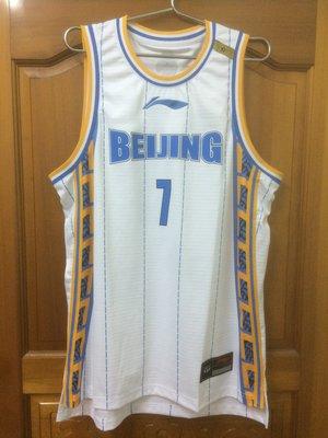 全新 CBA球衣 李寧 LI-NING 林書豪 JEREMY LIN 北京首鋼隊 白色 XL號
