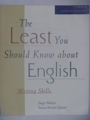 【月界二手書店】The Least You Should Know About English 〖語言學習〗AHU