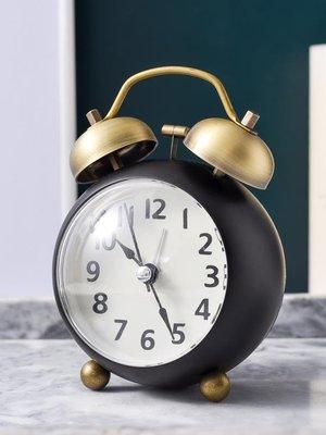 鬧鐘 復古小鬧鐘學生用靜音床頭兒童鐘表小型擺件鬧鈴聲音超大夜光時鐘AMSS