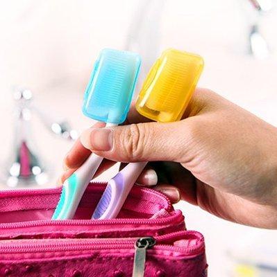 ☜shop go☞ 便攜 牙刷 盒蓋 衛生 頭套 戶外 旅行 衛生 抗菌 潔淨 出差旅遊 便攜式牙刷盒蓋1入【G021】