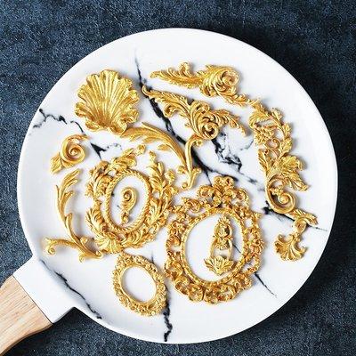 LIOU栗欧~翻糖硅膠模具歐式花紋圍邊蛋糕模具多款裝飾模 DIY巧克力翻糖模