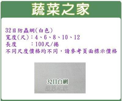 全館滿799免運【蔬菜之家012-B10】32目防蟲網(白色)-12尺*100尺(防害蟲侵入.而導致蟲害)