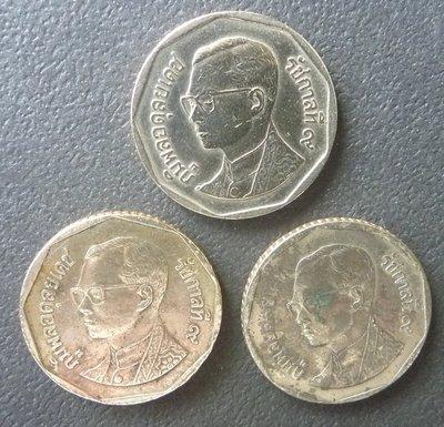[小章寶店]   1元起標/運費不合併/ 早期泰國各年代(5巴特)錢幣.(3枚一標合拍.保真).1