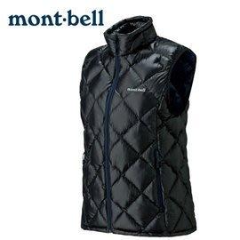 丹大戶外 日本【mont-bell】Superior 女款羽絨背心 1101469BK 黑