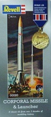 利華Revell拼裝航天模型00020 1/35 CORPORAL MISSILELAUNCHER