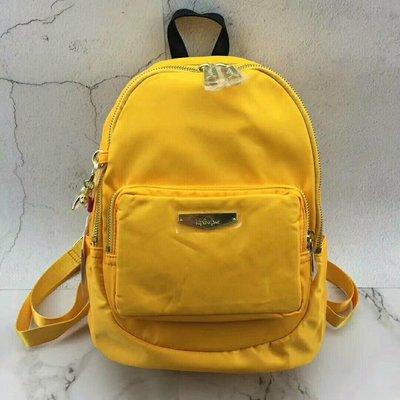 【Keep Eunning】Kipling 新品 K14251金屬標小型手提後背包 黃色