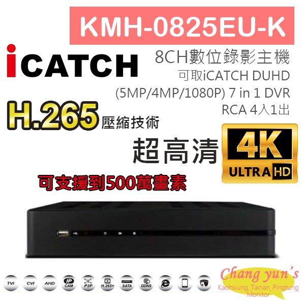 KMH-0825EU-K H.265 8CH數位錄影主機 7IN1 DVR 可取 ICATCH DUHD 專用錄影主機