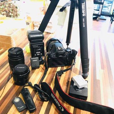 單眼相機 Canon 600D tamron 17-50/原廠18-55/50人像鏡 takara 腳架/YN460閃燈