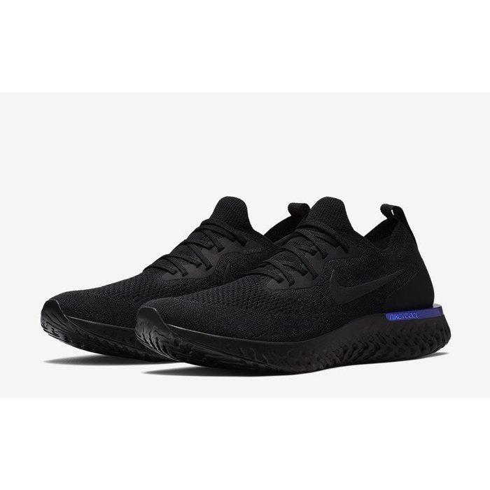 (老夫子)Nike Wmns Epic React Flyknit (AQ0070-004)黑潮流時尚慢跑運動鞋男女