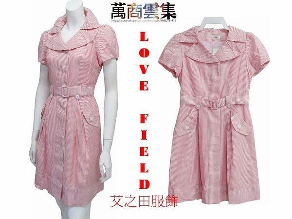 [萬商雲集] 全新 艾之田服飾 休閒柔美甜美風金蔥絲棉麻短袖洋裝 上衣 連身裙 70121