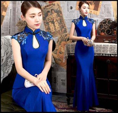 【Fashion歐洲站】夏性感時尚走秀旗袍連衣裙年輕款新式修身長款簡約中國風禮服