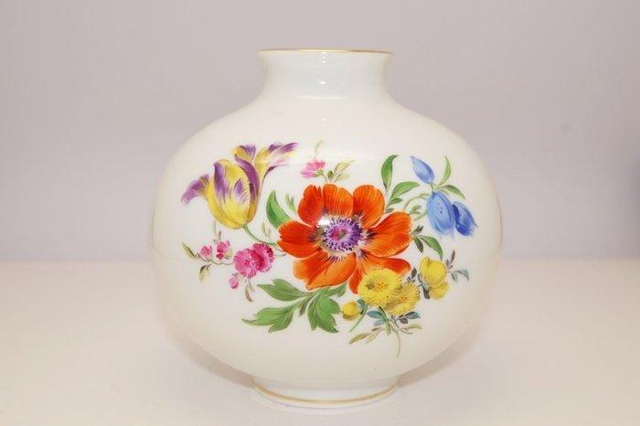 歐洲第一名瓷德國Meissen 麥森花卉 花瓶  1級品典藏品