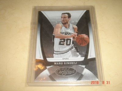美國職籃 NBA Spurs Manu Ginobili  2010 Panini Certified #22 球員卡