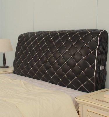 布藝夾棉床頭罩實木床頭套加厚歐式仿皮床...