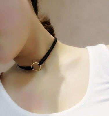 BIRDYEDGE 韓國絨 項圈 頸圈 調節設計 項鍊 女 扣環 五金