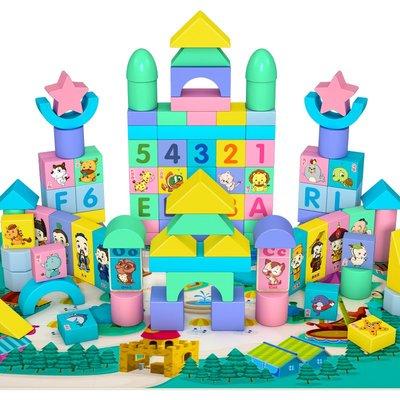 積木城堡 迷你廚房 早教益智幼兒童積木玩具益智力1-2周歲寶寶3-6女孩男孩多功能木頭拼裝早教