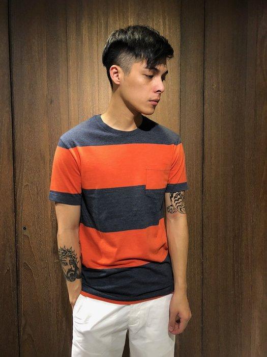 美國百分百【全新真品】 J.CREW T恤 上衣 T-shirt 短袖 圓領 短T 紅藍 條紋 AN16