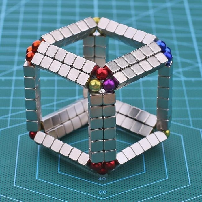 磁球魔方巴克球5mm216顆方形吸鐵石減壓益智磁鐵玩具磁性積木
