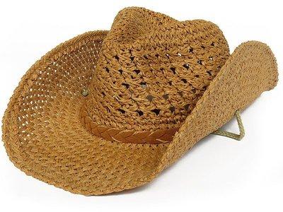 帽子專賣店【夏季優質透氣造型☆D052☆編織造型牛仔帽】