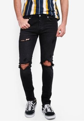 Topmen Washed Blowout Black Jeans UK32R