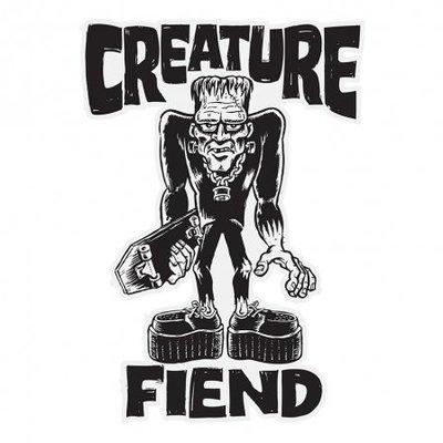 〔Bigforty〕CREATURE - Frankenfiend Clear Mylar Sticker滑板品牌 貼紙