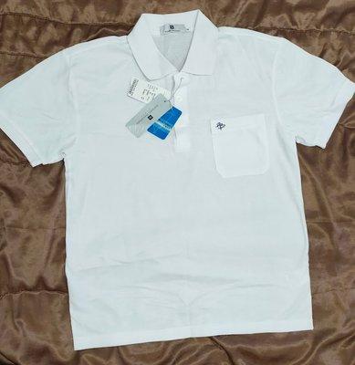 **六六挖寶趣** PIERRE BALMAIN 白色短袖POLO衫 (M) (全新)