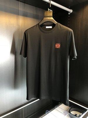 原創 L0EWE 高品質 絲光棉 LOGO刺繡 後背印花 短袖T恤 Tee